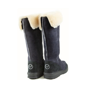 VENUS ROLL BLACK BACK - PURE OZ - AUSTRALIA MADE SHEEPSKIN BOOT