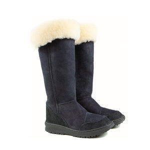 VENUS ROLL BLACK PAIR - PURE OZ - AUSTRALIA MADE SHEEPSKIN BOOT