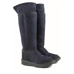 VENUS ROLL BLACK UP PAIR - PURE OZ - AUSTRALIA MADE SHEEPSKIN BOOT