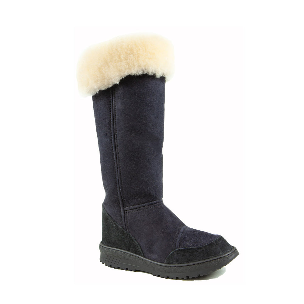 VENUS ROLL BLACK - PURE OZ - AUSTRALIA MADE SHEEPSKIN BOOT