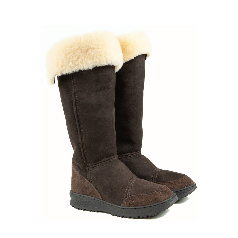 VENUS ROLL MOCHA PAIR - PURE OZ - AUSTRALIA MADE SHEEPSKIN BOOT