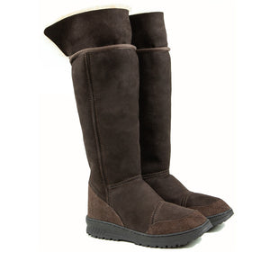VENUS ROLL MOCHA UP PAIR - PURE OZ - AUSTRALIA MADE SHEEPSKIN BOOT