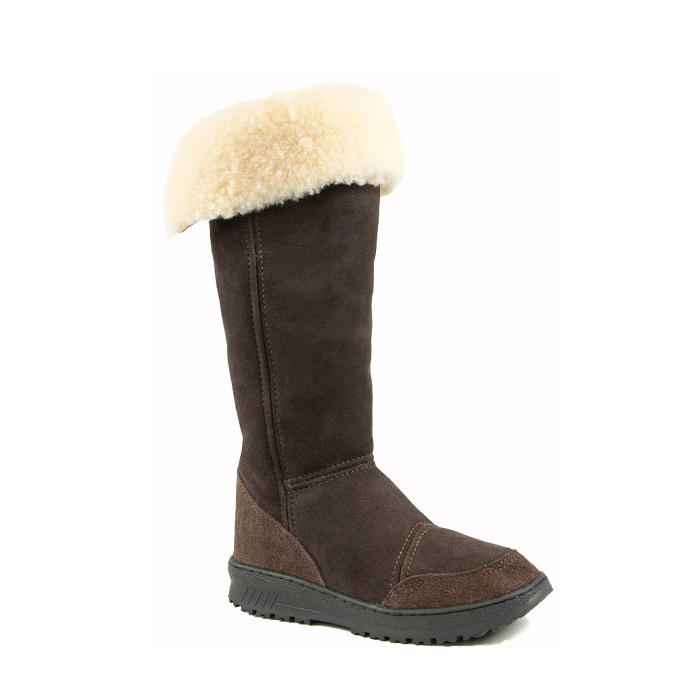 VENUS ROLL MOCHA - PURE OZ - AUSTRALIA MADE SHEEPSKIN BOOT