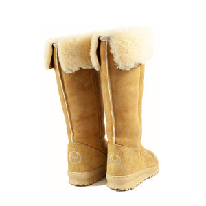 Load image into Gallery viewer, VENUS ROLL CARAMEL BACK - PURE OZ - AUSTRALIA MADE SHEEPSKIN BOOT