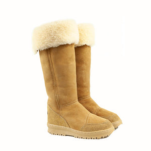 Load image into Gallery viewer, VENUS ROLL CARAMEL PAIR - PURE OZ - AUSTRALIA MADE SHEEPSKIN BOOT