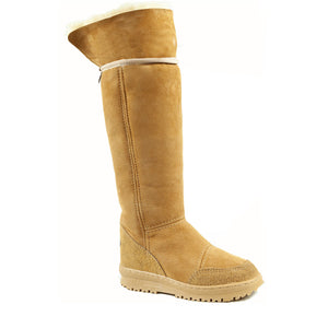 Load image into Gallery viewer, VENUS ROLL CARAMEL UP - PURE OZ - AUSTRALIA MADE SHEEPSKIN BOOT