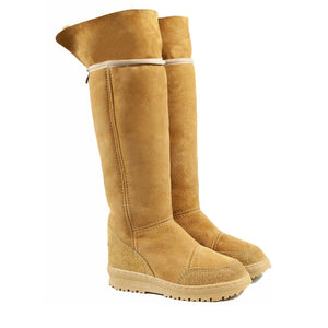 Load image into Gallery viewer, VENUS ROLL CARAMEL UP PAIR - PURE OZ - AUSTRALIA MADE SHEEPSKIN BOOT