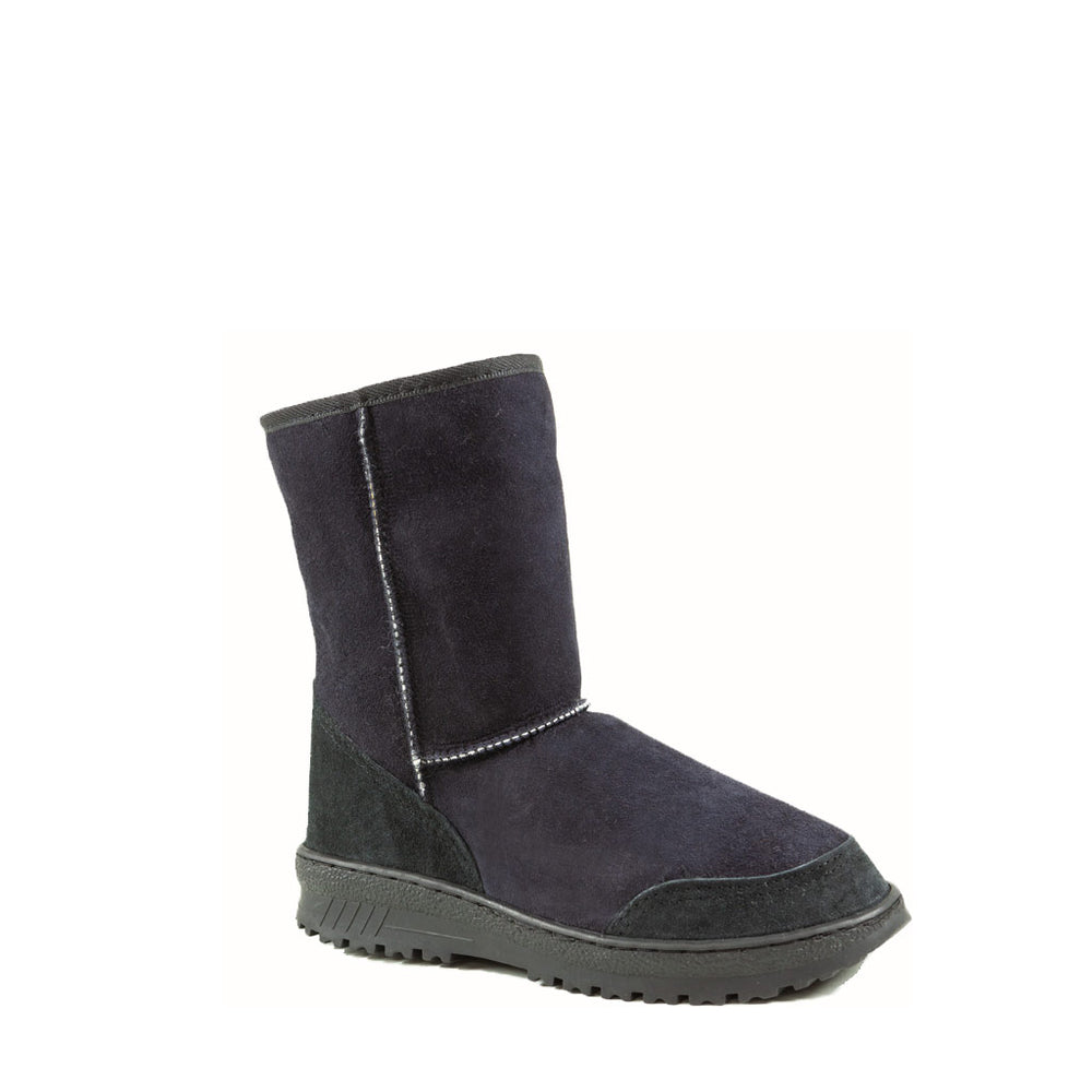 WANDER MID BLACK - PURE OZ AUSTRALIAN MADE SHEEPSKIN UGG BOOT