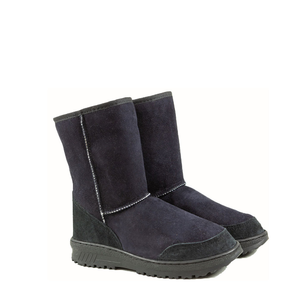 WANDER MID BLACK PAIR - PURE OZ AUSTRALIAN MADE SHEEPSKIN UGG BOOT