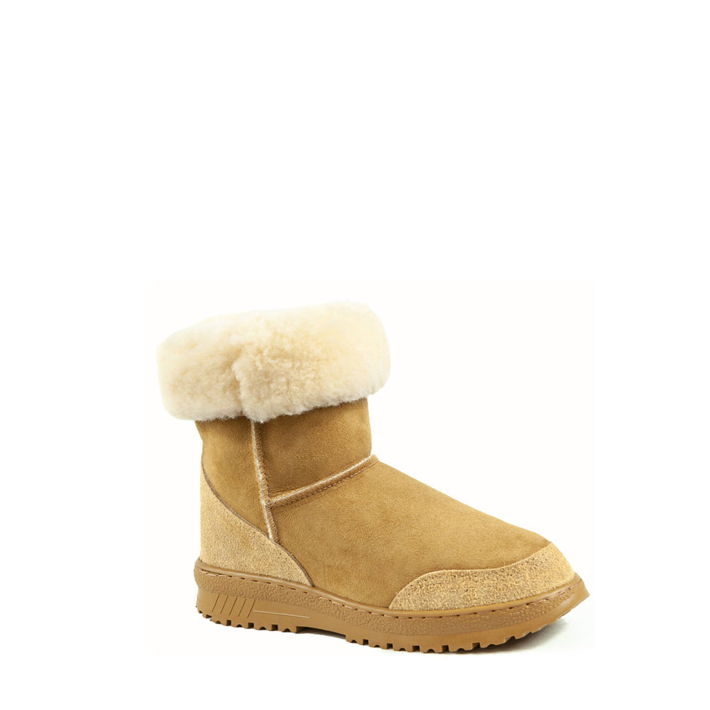 WANDER MID CARAMEL ROLLED - PURE OZ AUSTRALIAN MADE SHEEPSKIN UGG BOOT