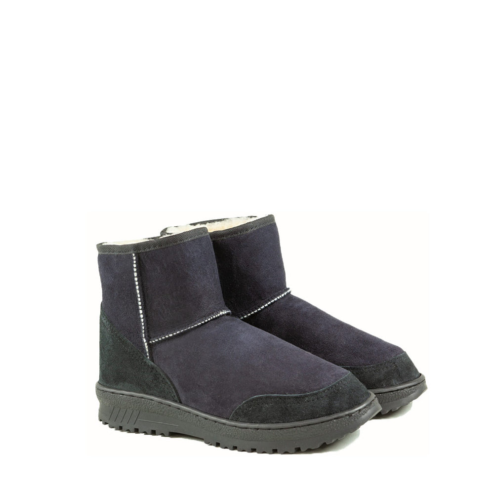 WANDER MINI BLACK PAIR - PURE OZ AUSTRALIAN MADE SHEEPSKIN UGG BOOT
