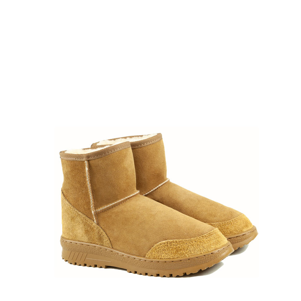 WANDER MINI CARAMEL MENS PAIR - PURE OZ AUSTRALIAN MADE SHEEPSKIN UGG BOOT