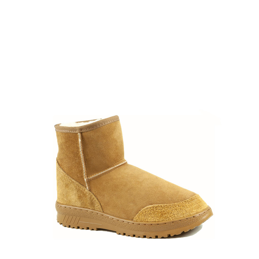 Load image into Gallery viewer, WANDER MINI CARAMEL MENS - PURE OZ AUSTRALIAN MADE SHEEPSKIN UGG BOOT