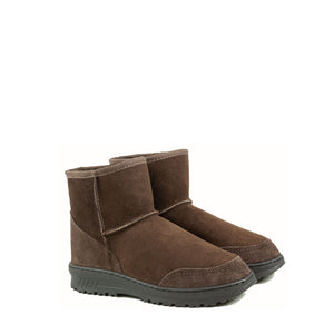 Load image into Gallery viewer, WANDER MINI MOCHA MENS PAIR- PURE OZ AUSTRALIAN MADE SHEEPSKIN UGG BOOT