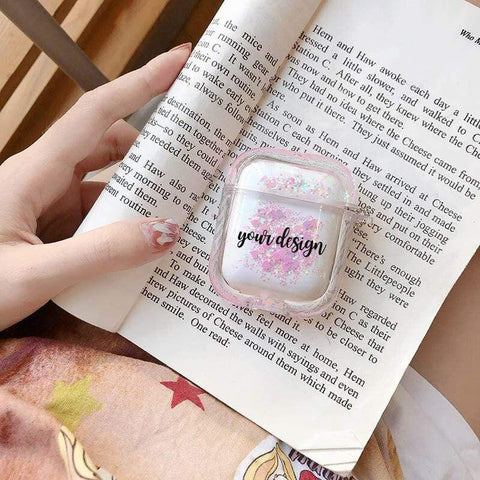 BlingQueenAu 200001619 your name Air pod Case Customized Name Personalized Airpods Pink Glitter Case Personalized Gift Airpod case Cute Air pod bling case cover