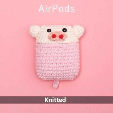 BlingQueenAu AirPod case - Premium Handmade Knitted AirPods CASE, Cute cartoon characters, Handmade Protective case cover for AirPods/Airpods2