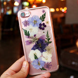 BlingQueenAu Astragalus Sinicus Dried Flower Iphone Case/Purple Flower Iphone Case/Iphone XR/XS/XS Max/6/7/8 Case