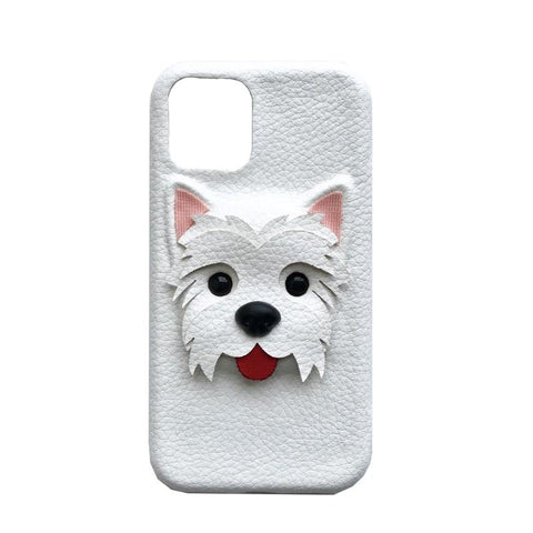 BlingQueenAu PU Leather Cute West Highland White Terrier Phone Case | Cartoon Iphone Case| Huawei Phone Case | Custom Made Phone Case
