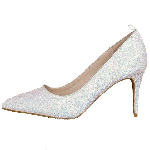 BlingQueenAu Stylish Women Bling Rhinestone Bridal Shoes/Heels Crystal Pumps/Custom Shoes/Party & Evening