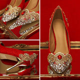 BlingQueenAu Stylish Womens Bling Luxury Rhinestone Bride Dress Wedding Beautiful Shoes