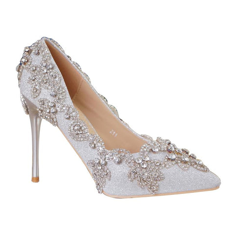 BlingQueenAu Stylish Womens Bling Rhinestone Bride Wedding Shoes with exclusive signature design