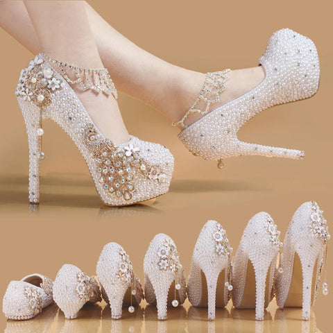 BlingQueenAu The Wedding Shoes | Custom Bridal Flats |White Pearl Bridal Shoes | Beach Wedding Shoes| Bling Rhinestone Shoes