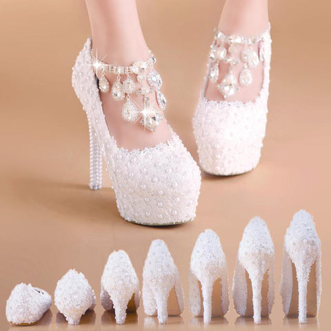 BlingQueenAu Wedding Shoes Flat | White Bridal Shoes and Wedding Heels | Lace Bridal Shoes | Custom Bridal Shoes