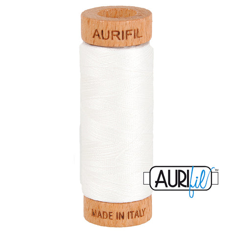 80 weight Aurifil White Thread 2021
