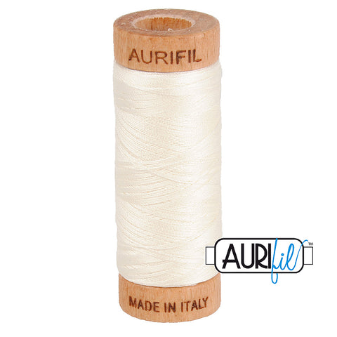 80 weight Aurifil CreamThread 2026