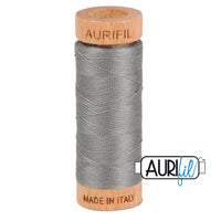 80 weight Aurifil Dark Grey Thread 2625