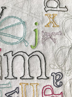 Readers Corner Embroidery Pattern and Panel