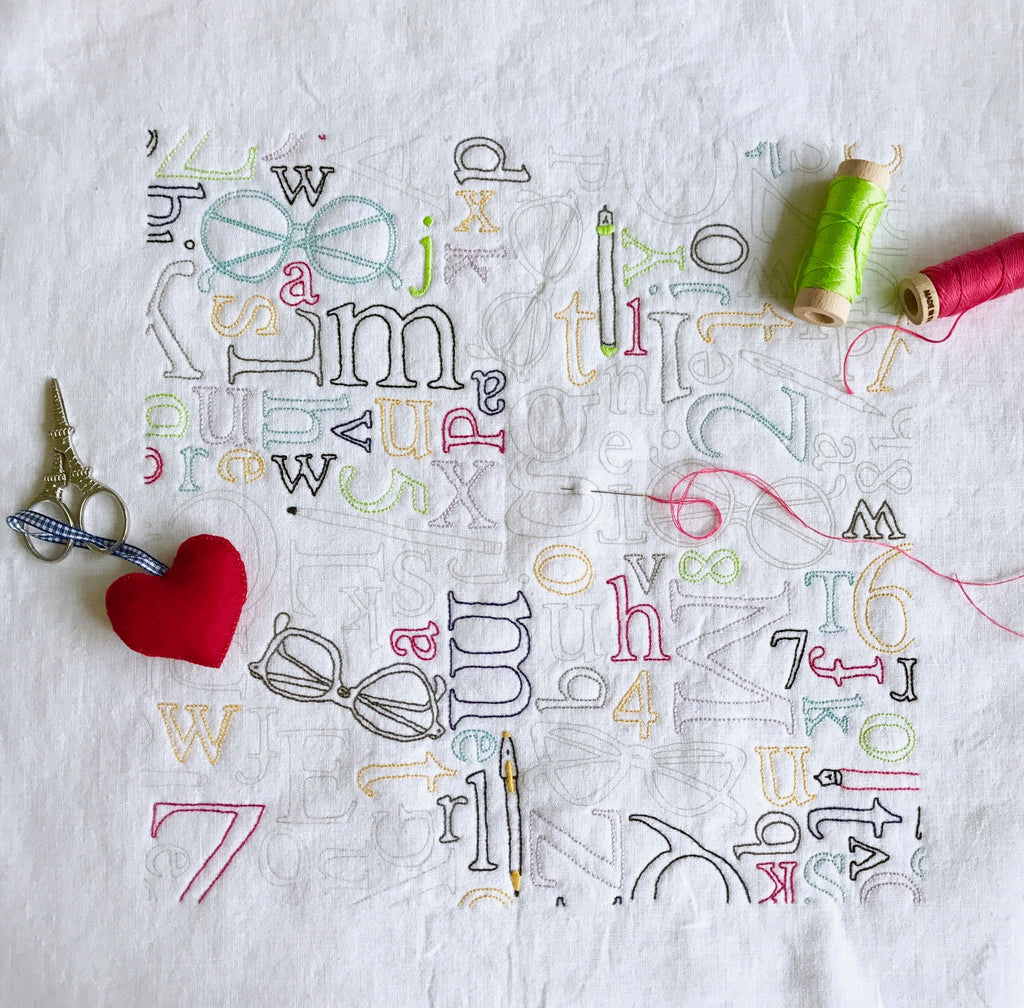 Readers Corner Embroidery Panel Kit - Multicolor