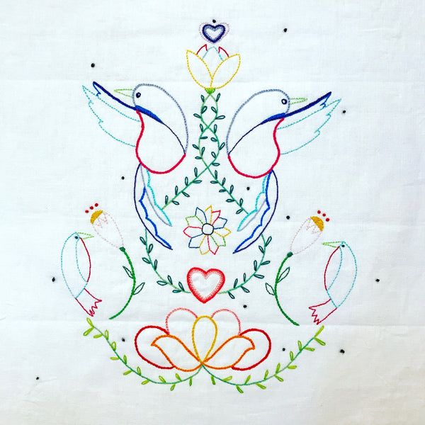 The Grasshopper Embroidery Pattern and Panel