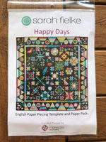 Happy Days English Paper Piecing Pack, Templates and Papers