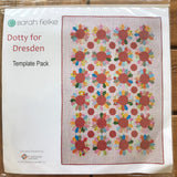Dotty For Dresden Quilt template