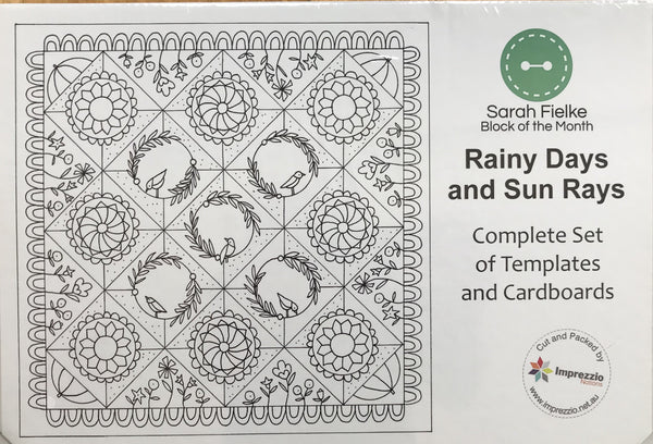 Rainy Days and Sun Rays BOM 2021 Optional Quilt Template Set