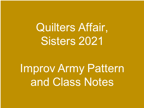 Improv Army Pattern and Class Notes