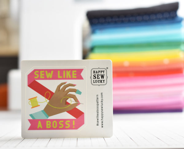 SEW LIKE A BOSS STICKER - Overseas orders