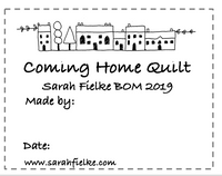 Coming Home BOM Quilt Label and Postcard (Australian Customers)