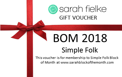 BOM2018 Simple Folk Gift Voucher