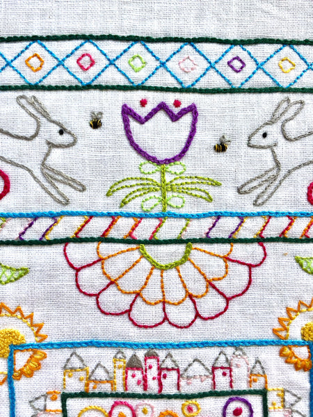 Down the Rabbit Hole Embroidery Panel Kit - Multicolor - OUT OF STOCK