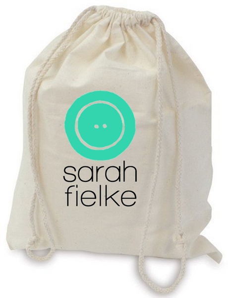 Sarah Fielke Drawstring Cotton Project Bag