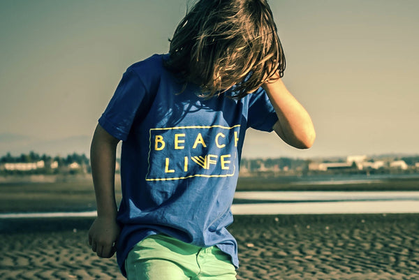 Kid's -Beach Life Tee- Blue