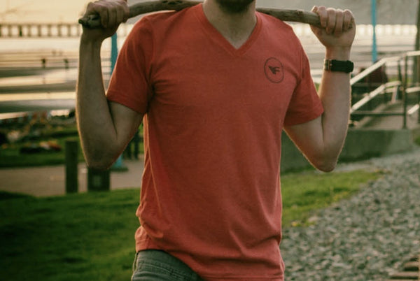 Men's - Classic V-Neck - Red