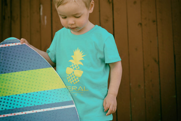 The Kid's Pineapple Tee- Teal
