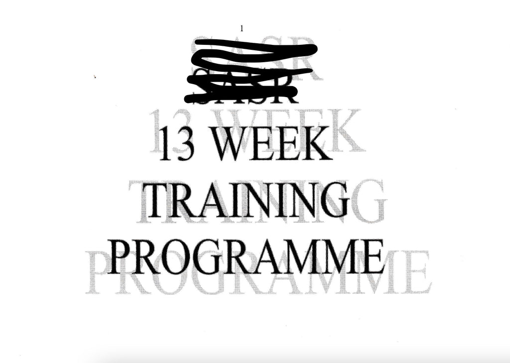 13 week training program