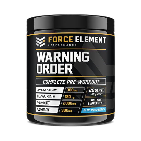 WARNING ORDER - High-Stim Complete Pre-Workout