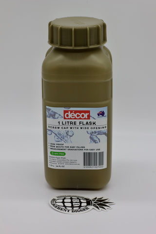 Décor One Litre khaki water bottle