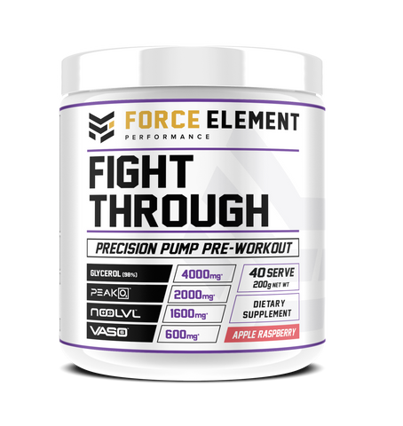 FIGHT THROUGH - Focus + Pump Pre-Workout