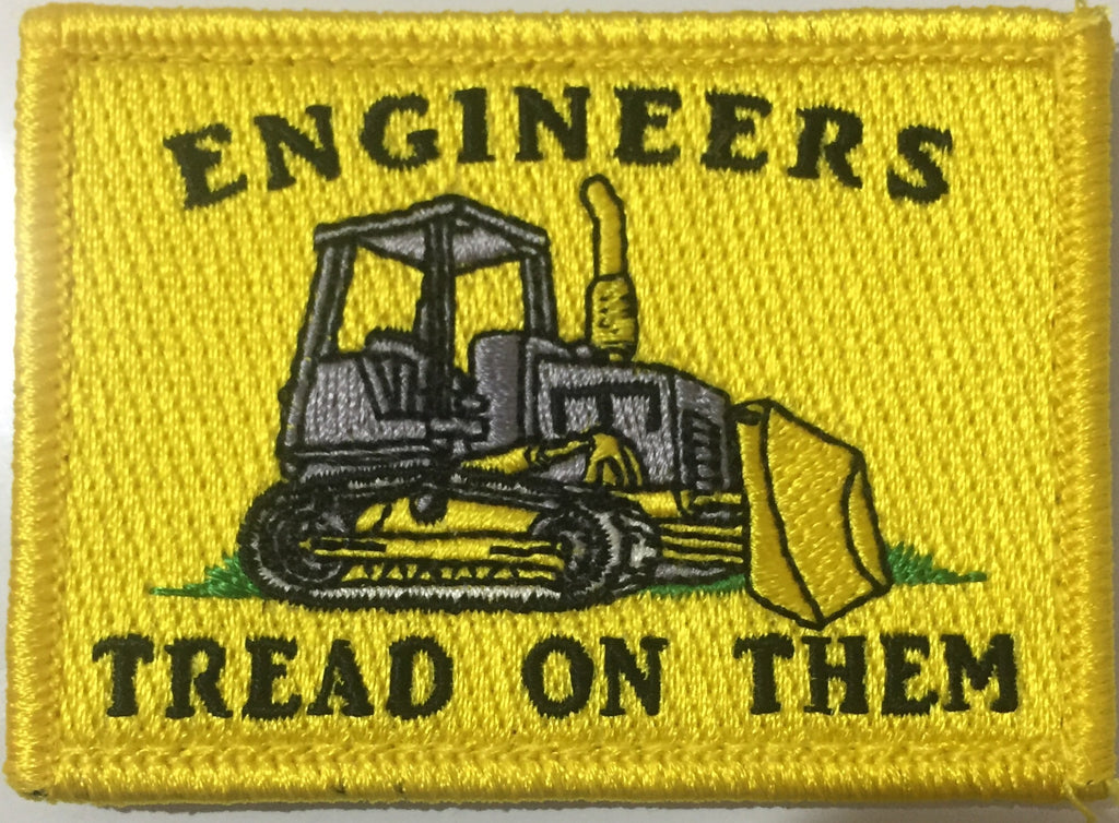 Engineers tread on them patch
